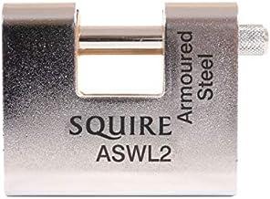 Henry Squire - ASWL2KA Staal Gepantserd Magazijn Hangslot 80mm Gesleuteld Alike