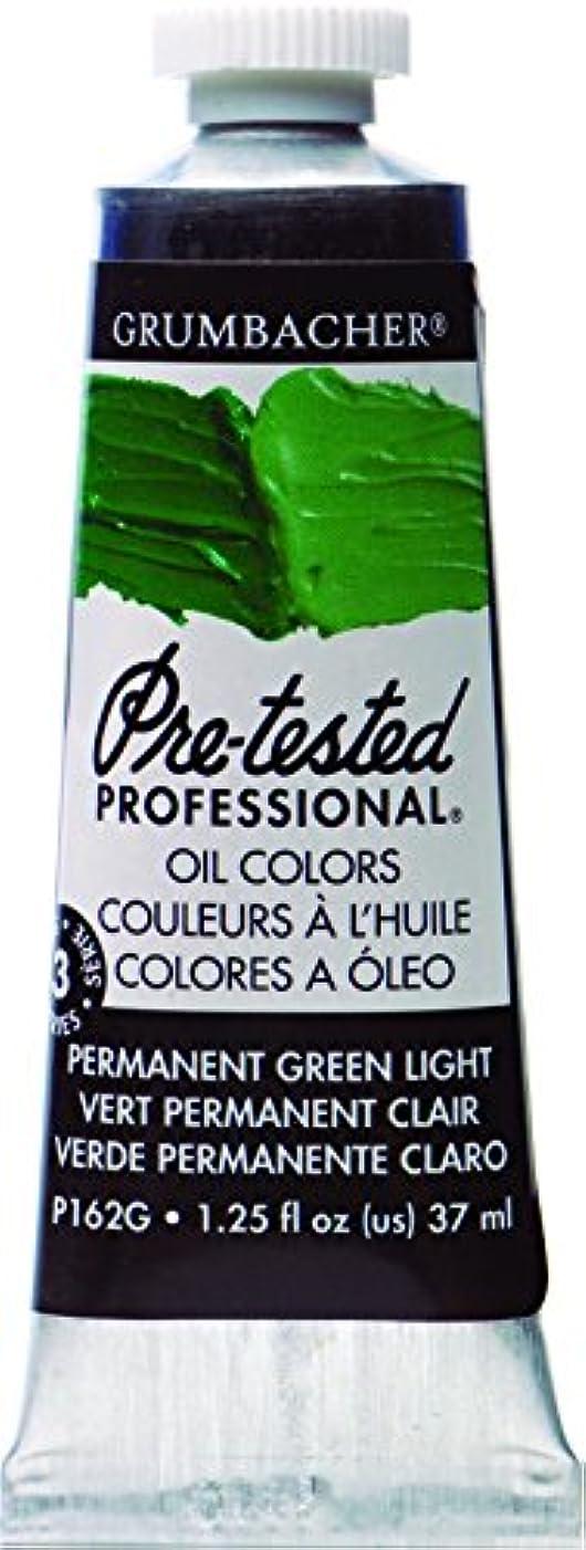 Grumbacher Pre-Tested Oil Paint, 37ml/1.25 Ounce, Permanent Green Light (P162G)