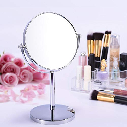 LCZMQRCLMZRQ Draagbare dubbelzijdige roterende spiegel vergrotende make-up spiegel tafel bureau staande kaptafel make-up spiegel vrouwen schoonheidsspiegel