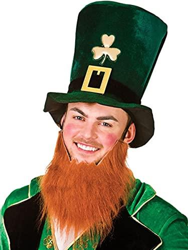 HENBRANDT Shamrock Velv Hat With Beard, Green, One Size