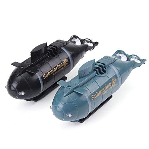 YANGUANG Mini 6 Canales RC Submarino Barco De Control Remoto A Prueba De Agua Modelo Barco De Juguete Buceo En Agua Regalo Gran Regalo De Juguete para Niños Recargable,Black+Blue