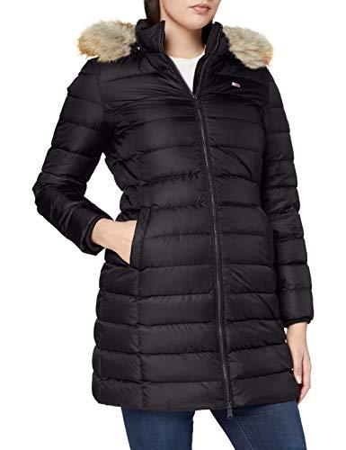 Tommy Jeans Damen Tjw Essential Hooded Down Coat Jacke, Schwarz, Medium