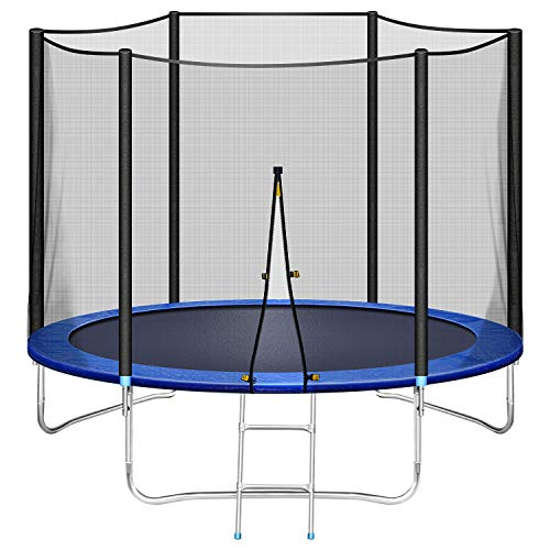 Price comparison product image INCLAKE Trampoline for Kids with Safety Enclosure Net, 10 FT Trampoline Jumping Mat and Spring Cover Padding with Ladder for Outdoor Garden Activity and Water Play