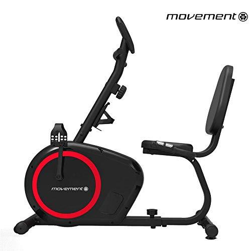 Bicicleta Ergometrica Horizontal Movement H2 Preta com Display LCD