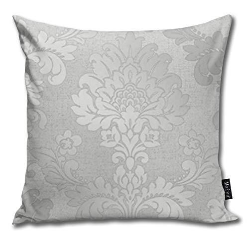 Nonebrand - Copricuscino decorativo in quarzo argentato con brillantini damascati, per soggiorno, divano, camera da letto, auto, 45,7 x 45,7 cm