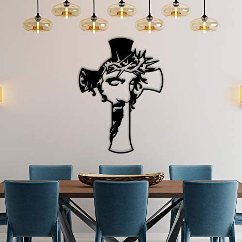 Cross Metal Sign Jesus on Wall Art Cro discount Recommended The