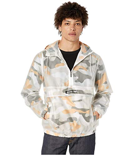 Members Only Men's Printed Camo Transluscent Pullover Half Zip Layering Jacket, Maze CamoMedium