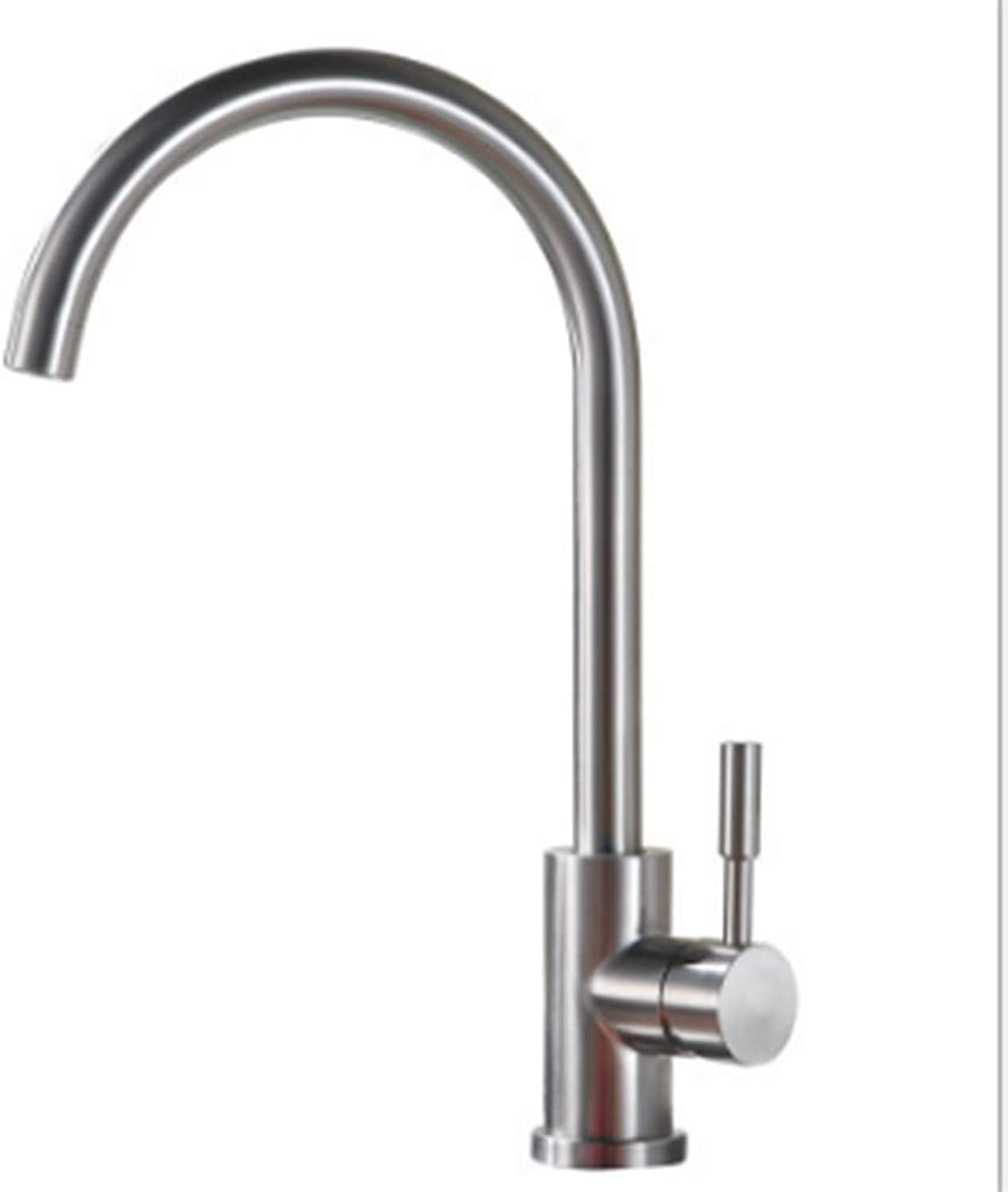 SEEKSUNG Kitchen faucet,Single Handle One Hole Brushed Tall   -High Arc Deck Mounted Contemporary Kitchen Taps Stainless Steel, For Kitchen Bathroom Sink