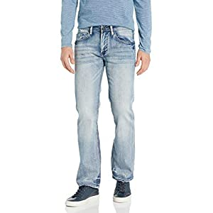 Buffalo David Bitton Men's Whiskered and Contrasted Denim Jeans