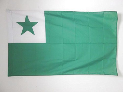 AZ FLAG Esperanto Flag 3' x 5' for a Pole - International Auxiliary Language Flags 90 x 150 cm - Banner 3x5 ft with Hole (Unknown Binding)