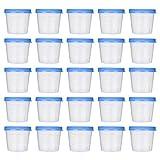 Artibetter 50 Piezas 40 Ml Taza de Orina Vaso de Muestra de Plástico Recipiente de Orina Taza de Muestreo Estéril para Uso Médico de Laboratorio (Color Aleatorio)