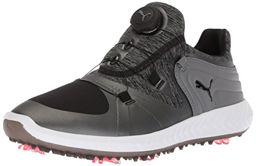 PUMA Golf Women's Ignite Blaze Sport Disc Golf Shoe, Black/Steel Gray, 7 Medium US