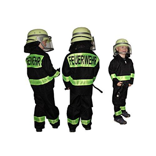 Feuerwehr-Kostüm Kinder Feuerwehr-Mann Fasching Karneval Kinder-Kostüm Gr. 116 Waschbar Polyester Schadstoff geprüft