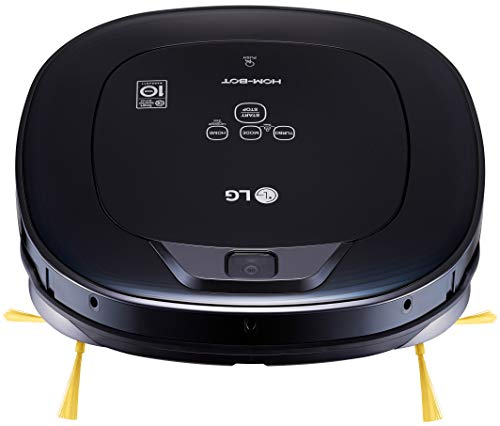 LG Hom-Bot Square Robotic Vacuum with Mop quietly cleans every corner of your home (VR65704LVM)