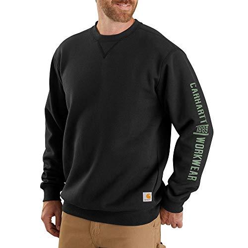 Carhartt Men's 104441 Midweight Crewneck Logo Graphic Sweatshirt - Large - Black