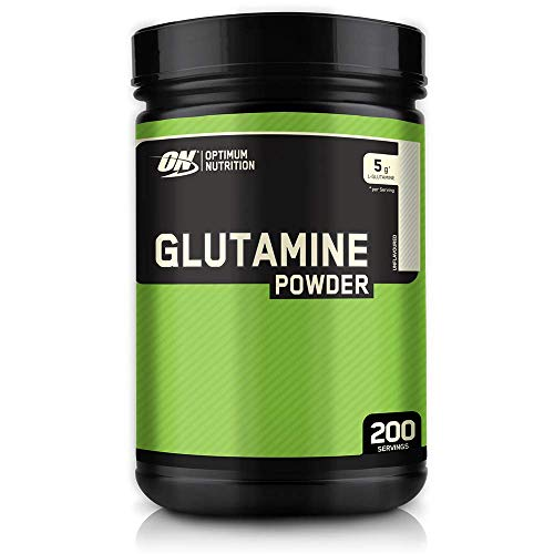 Optimum Nutrition Glutamine, l Glutamina en Polvo, Aminoacido, Suplementos para Ganar Masa Muscular, Sin Sabor, 200 Porciones, 1kg