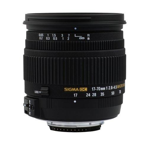 Sigma 17-70mm 2,8-4,5 MACRO DC HSM Objektiv (72mm Filtergewinde) für Nikon