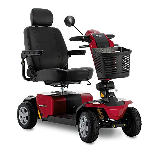 Victory Sport 4-Wheel Fast Power Electric Scooter Pride Mobility SC710 LXW Red Color