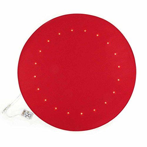Gartenpirat Weihnachtsbaum-Unterlage rot Ø 90 cm mit 20 LED Bodenschutz Filz