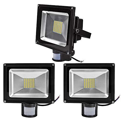 Leetop Roleadro Faretto LED 50W IP65 Impermeabile 2800K Bianco Caldo Potente LED Chip para Alto Brillo Luminosità Intensità Faro LED Proiettore Luce Diurna per Esterno Interno Illuminazione