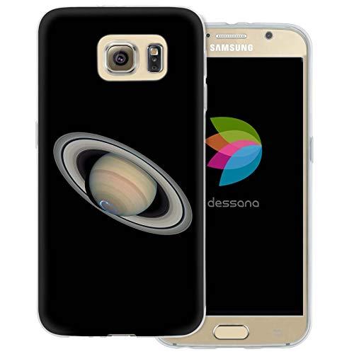 dessana Planeten transparente Schutzhülle Handy Case Cover Tasche für Samsung Galaxy S6 Saturn