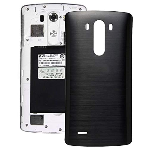 YAOLAN Piezas de Recambio Tapa de Contraportada con NFC for LG G3 Piezas de Recambio para LG (Color : Black)