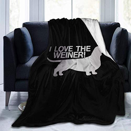 AEMAPE I Heart Love My Weiner Dog Dachshund Cozy Throw Franela Mantas Manta cálida 153X127CM