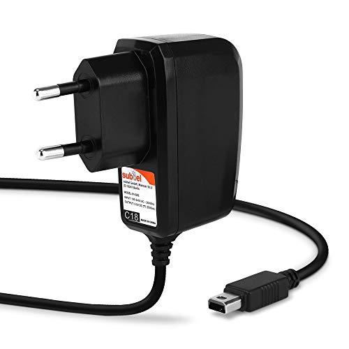 subtel® Qualitäts Ladekabel 1,20m, 1A kompatibel mit Nintendo Wii U Gamepad, 5V System Connector Ladegerät Netzteil Charger