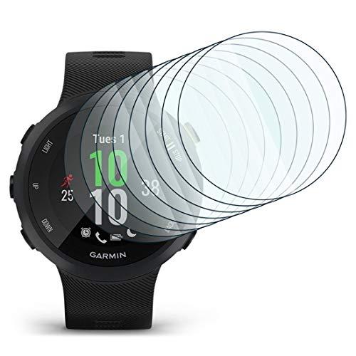 KARYLAX [Pack x8] Protector de pantalla para reloj inteligente Película de vidrio Nano Flexible irrompible Dureza 9H, Ultra Fin 0,2 mm y 100% Transparente para Garmin MARQ Drive