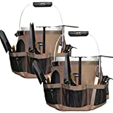 Bucket Idea Wash Tool Organizer for 5 Gallon Bucket, Cleaning Bucket Organizer Water-Resistant Mesh Pockets for Clean Supplier ,Car Wash Supplier,Soap and Towel Holder Ring Included