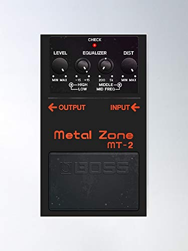 Heavy Roll Pedal Boss Guitar Metal And Zone Home Decor Wall Art Print Poster !! Home Decor Wall Art Print Poster !