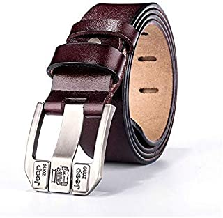 Jeep Brown Leather Belt For Men
