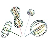 Rainbow Twirler Stick - 4 Pack - Magic Party Bubble Wand - Spin Twirl Swirl and Dazzle - Fun Addicting Party Favor