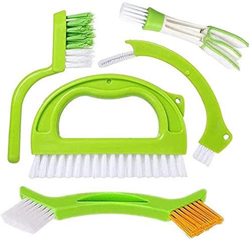 JUYILSU Grün Fugen-Fliesen-Gelenk-Bürsten-Satz,Reinigt effektiv Fugenbürste für Bad, Küche und Haushalt(5 Artikel)