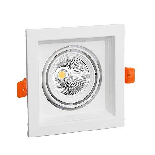 COB direccional ajustable ángulo Downlight Kit - cuadrado LED empotrado de techo...