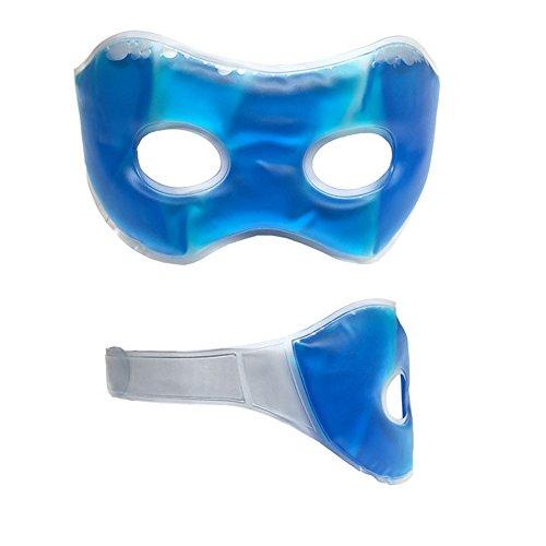 Gel-Augenmaske Schlafmaske wirkt belebend auf Ihre Augen - Augengelmaske Entspannungs-Maske kühlend wärmend bei Augenringe im Gesicht wiederverwendbar für Männer Frauen Kinder