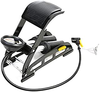 bosig® Aluminium Portable Bike Pump with Double Barrel Foot Inflator | 160 PSI Dual-Cylinder Air Foot Pump