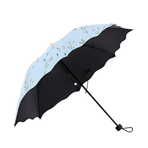 JIAHG Regenschirm Mini Sonnenschirm, Anti UV, leicht und Kompakt, Winddicht, 8-Fach Verstrebung, Schirm für Damen Mädchen Reisen Outdoor Camping Alltag Bedarf