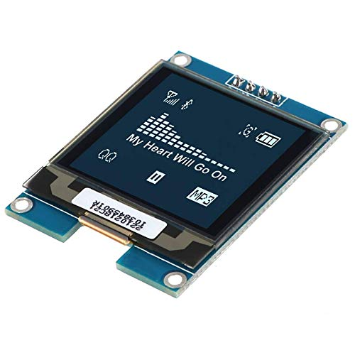 I2C OLED Display Module 1.5inch OLED Module LCD Display SSD1327 Driver Chip, 128x128 Pixels, 16-bit Grey Level with I2C interface,DC 3.3V/ 5V for Arduino Raspberry Pi