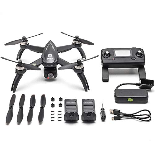 Mobiliarbus MJX RC Drone Bugs 5W B5W con cámara 4K Drone 5G WiFi Sin escobillas GPS Track Punto de interés de Vuelo Gesto Foto Video Cuadricóptero RC con 2 baterías