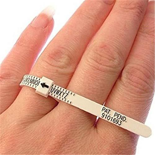 Lorenlli Tragbare UK Ring Sizer Measure Finger Gauge für Ehering Band Original Tester Messwerkzeug