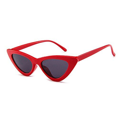 BLDEN Mujer Gfas De Sol Gafas Gato Ojos Polarized,Retro Moda Estilo Vintage Gafas Para Mujer GL1002-R-B