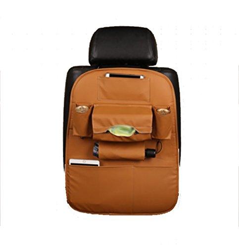 RUIX Car Back Seat Organiser Opbergrugleuning Beschermers Multifunctionele Auto Zitzak Zakken Stoel Achterkant puin Hangende Tas Opslag, Geel