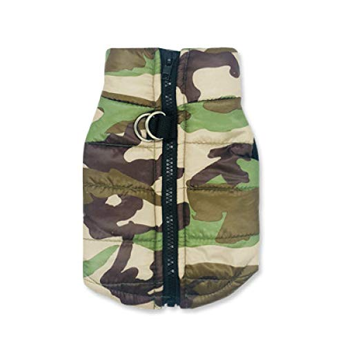 MYYXGS Dog Clothes Waterproof Dog Clothes Winter Pet Coat Cotton Camouflage Vest Small Dog Puppy Coat