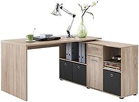 FMD Corner-Combination Desk, 136 x 75 x 68 cm, Canadian Oak