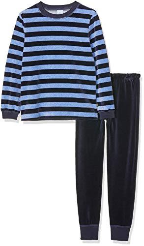Sanetta Jungen Pyjama Zweiteiliger Schlafanzug, Blau (Classic Blue 5390), 98