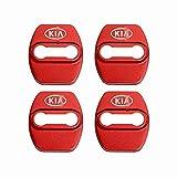 HXKGG Acero Inoxidable Espesado 4pcs / Set Car Styling Door Lock Cubierta Protectora. para KIA Rio Seltos Optima Soul Sportage Ceed Niro K3 K5 Sticker Auto Accesorios Rojo