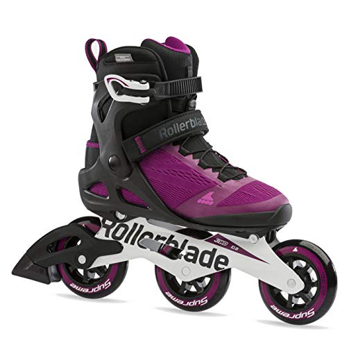 Rollerblade Macroblade 100 3WD Womens Adult Fitness Inline Skate, Violet and Black, Performance Inline Skates