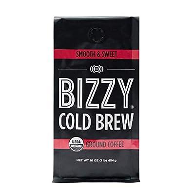Bizzy Organic Cold Brew Coffee | Smooth & Sweet Blend | Coarse Ground Coffee | 1 LB