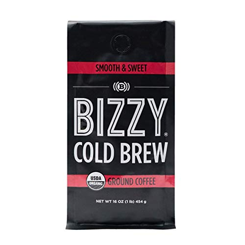Bizzy Organic Cold Brew Coffee | Smooth & Sweet Blend | Coarse Ground Coffee | 16 oz